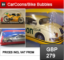 CarCoons and Bike Bubbles - storage solutions for cars and motorcycles