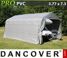 Portable Garage 3.77x7.3x3.24 m PVC, Grey