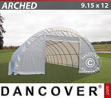 Portable Garage 9.15x12x4.5 m PVC, White