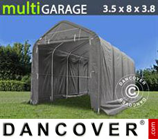 Portable Garage 3.5x8x3x3.8 m, Grey