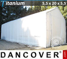 Portable Garage 5.5x20x4x5.5 m, White