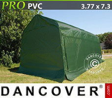 Portable Garage 3.77x7.3x3.24 m PVC, Green