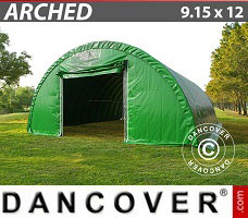 Portable Garage 9.15x12x4.5 m, PVC Green