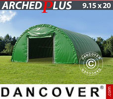 Portable Garage 9.15x20x4.5 m PVC, Green