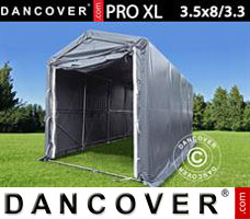 Portable Garage 3.5x8x3.3x3.94 m, PVC, Grey